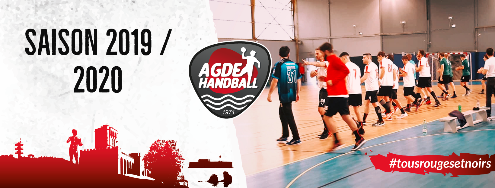Création de la stratégie globale en social media pour le club de handball de Agde